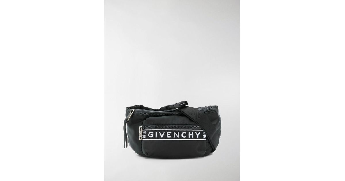 b420b6d36f Lyst - Givenchy Black And White 4g Bum Bag in Black for Men - Save 6%
