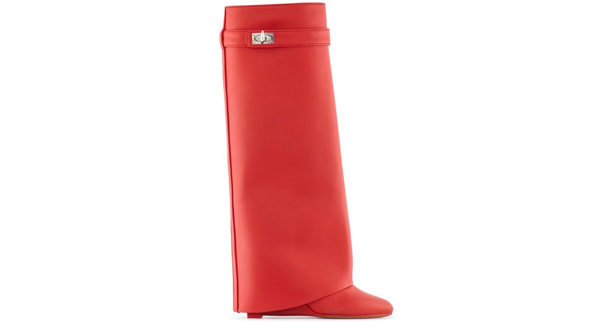 Shark Lock boots - Red Givenchy Geniue Stockist Cheap Price Discount Best Buy Cheap Top Quality From China oVX57CH