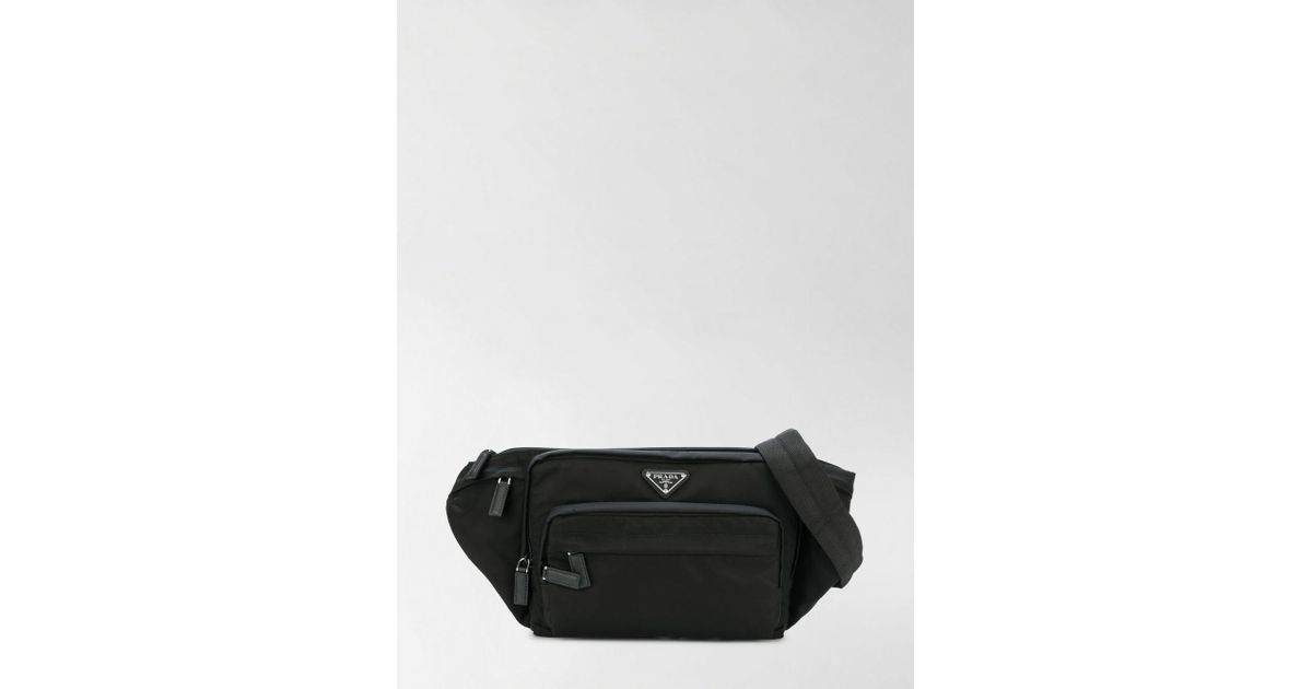 812d25dd1482 Lyst - Prada Fabric Belt Bag in Black for Men