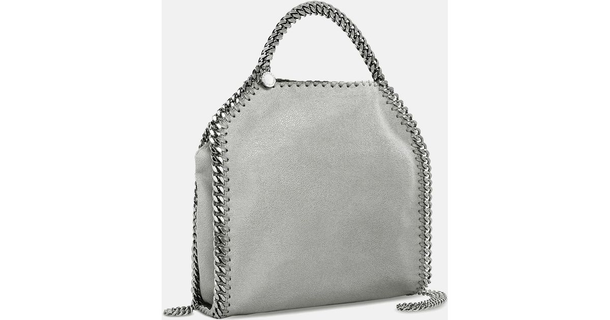3cab30fb5d Lyst - Stella McCartney Light Gray Falabella Shaggy Deer Mini Tote in Gray  - Save 4%