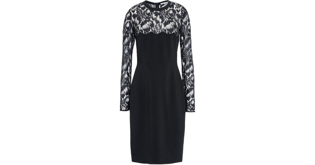 Lyst Stella Mccartney Sally Black Lace Dress In Black