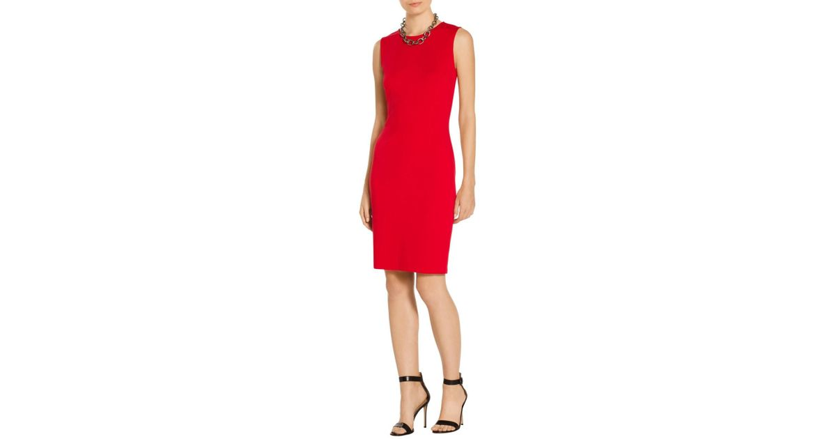 e1d8987c354d Lyst - St. John Sale Milano Knit Sheath Dress in Red