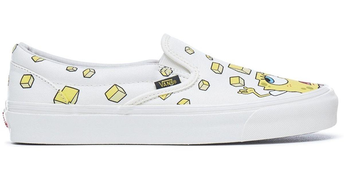 5479d32575 Lyst - Vans Slip-on Spongebob Yellow for Men