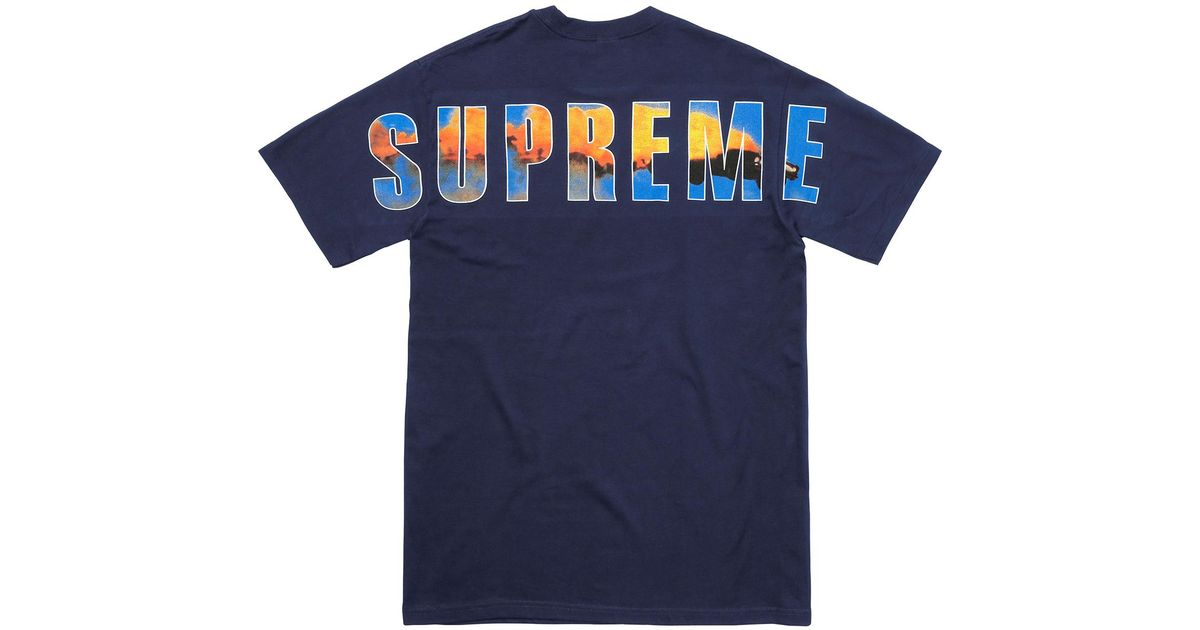 626d960b1 Supreme Crash Tee Navy in Blue for Men - Lyst