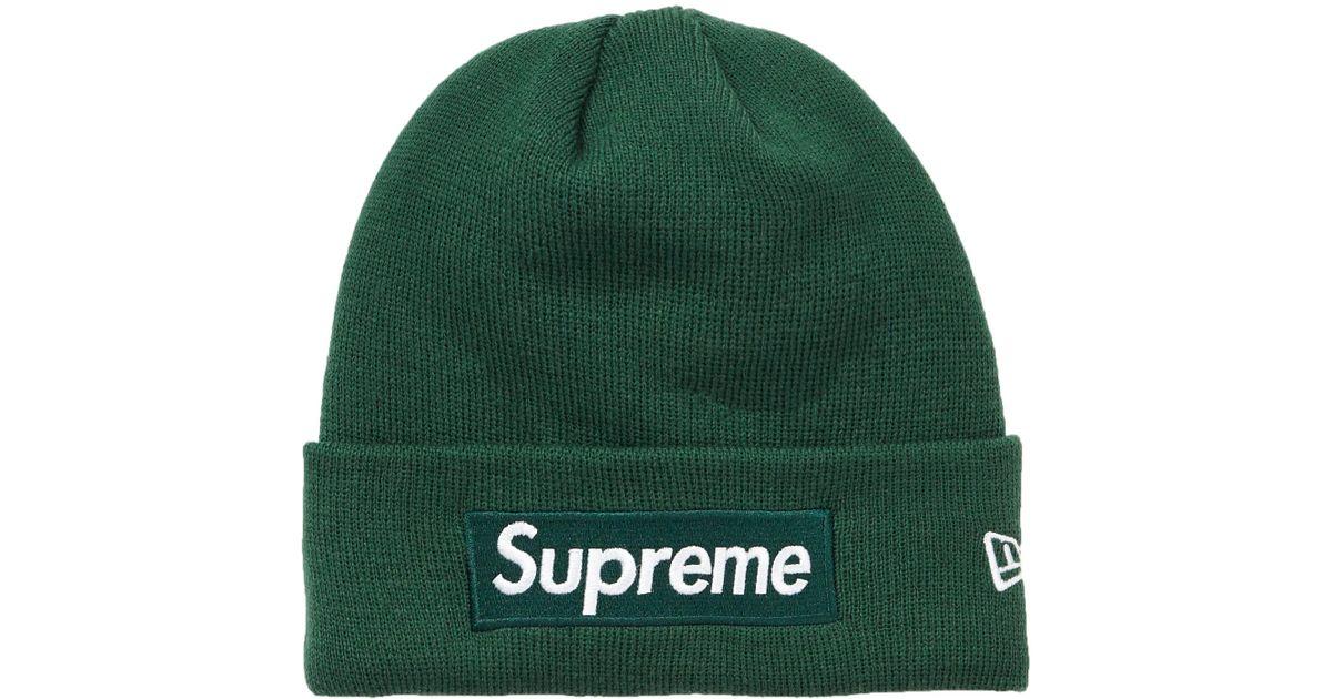 ffd72a51 Supreme New Era Box Logo Beanie (fw18) Dark Green in Green for Men - Lyst
