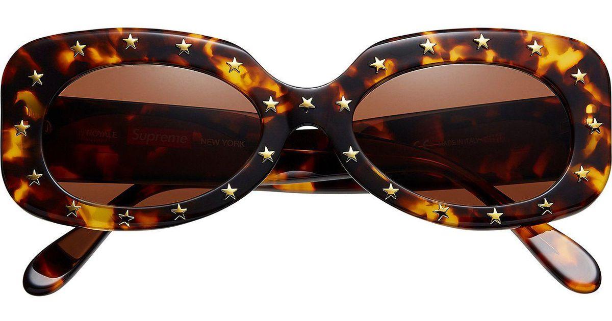 0f464c8a2ce0e Lyst - Supreme Royale Sunglasses Tortoise in Brown