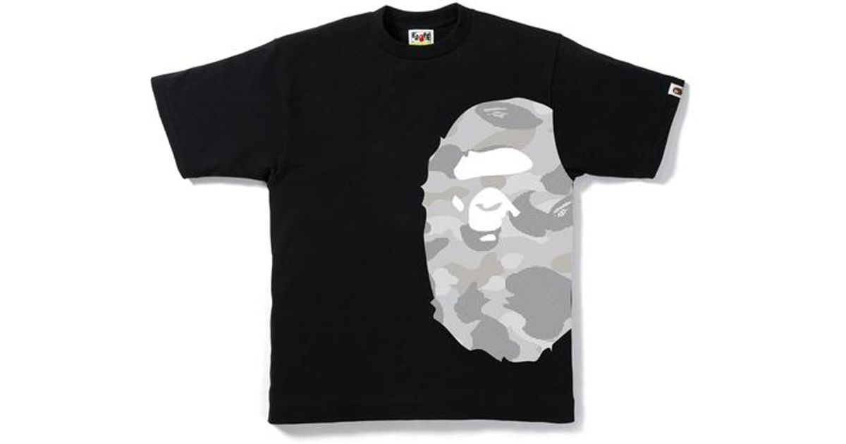 cac7a8ea Lyst - A Bathing Ape Dot Camo Side Big Ape Head Tee Black/gray in Black for  Men