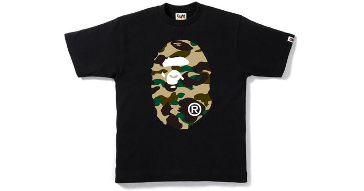 5e87ebf2 A Bathing Ape 1st Camo Big Ape Head Tee Black/yellow in Black for Men - Lyst