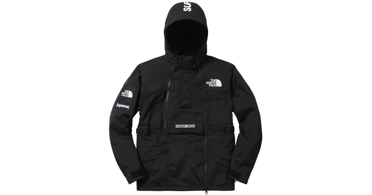 e402744e Supreme The North Face Steep Tech Hooded Jacket Black in Black for Men -  Lyst