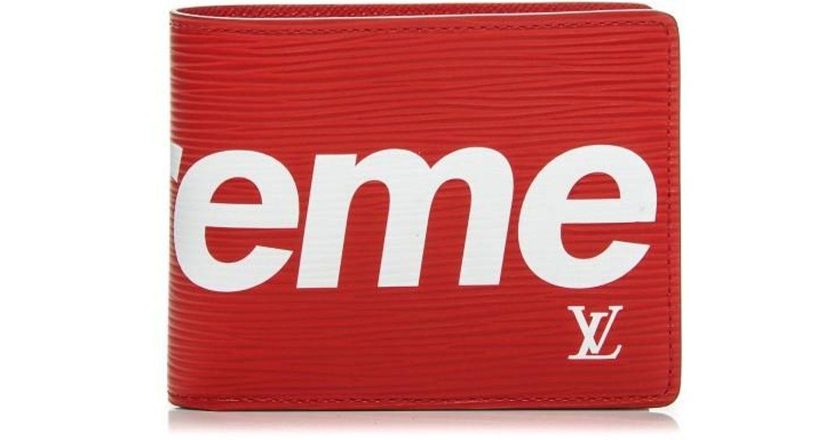 37082bec26d2 Lyst - Supreme Louis Vuitton X Slender Wallet Epi Red in Red for Men