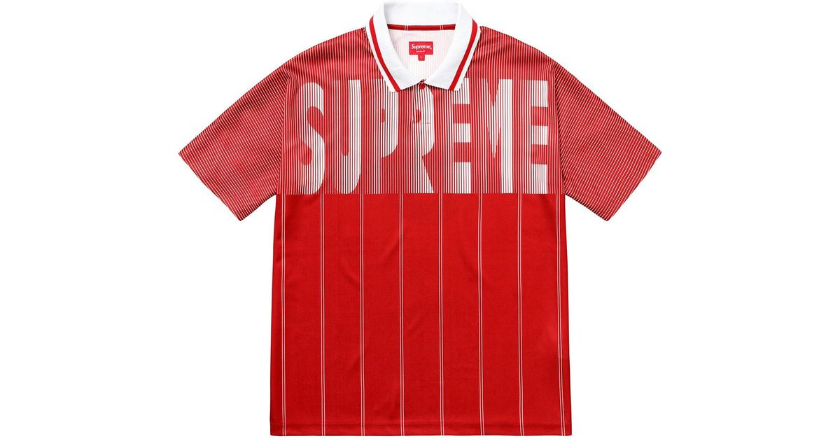 0ff9bbd059b Lyst - Supreme Soccer Polo Red in Red for Men