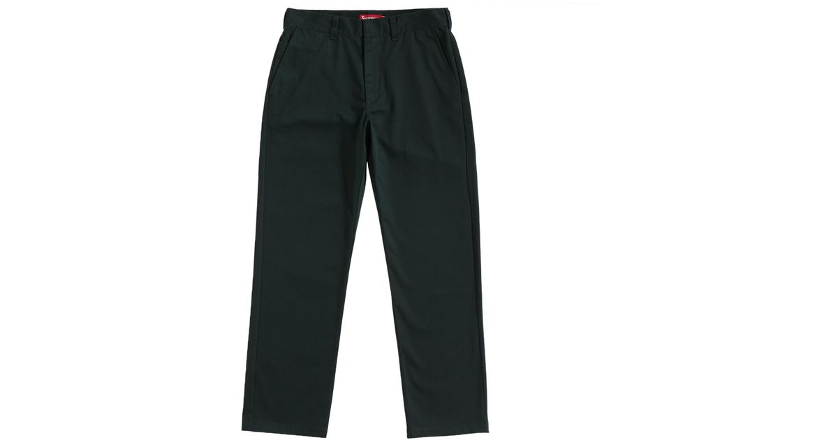 bc6c0864f4e2 Lyst - Supreme Work Pant (ss19) Black in Black for Men