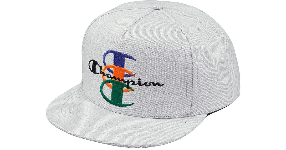 48c1874f Supreme Champion 5-panel Heather Grey in Gray for Men - Lyst