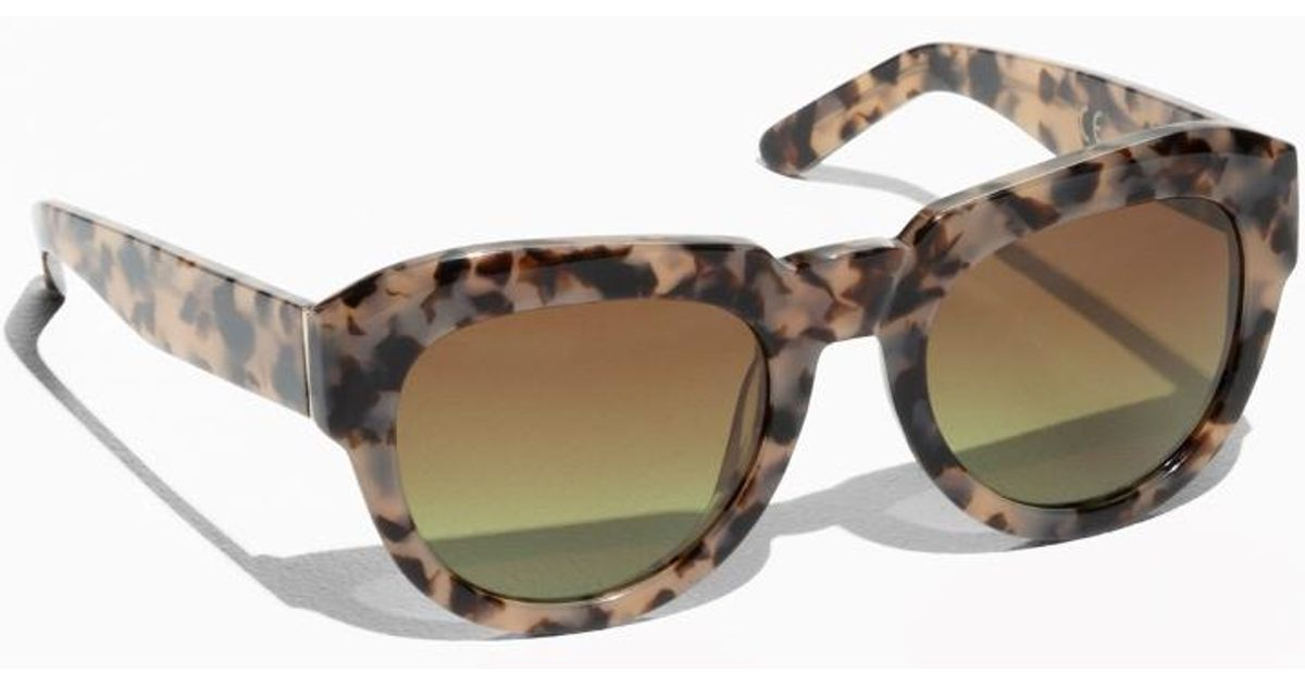 a728b01615a   Other Stories Premium Thick Square Frame Sunglasses - Lyst