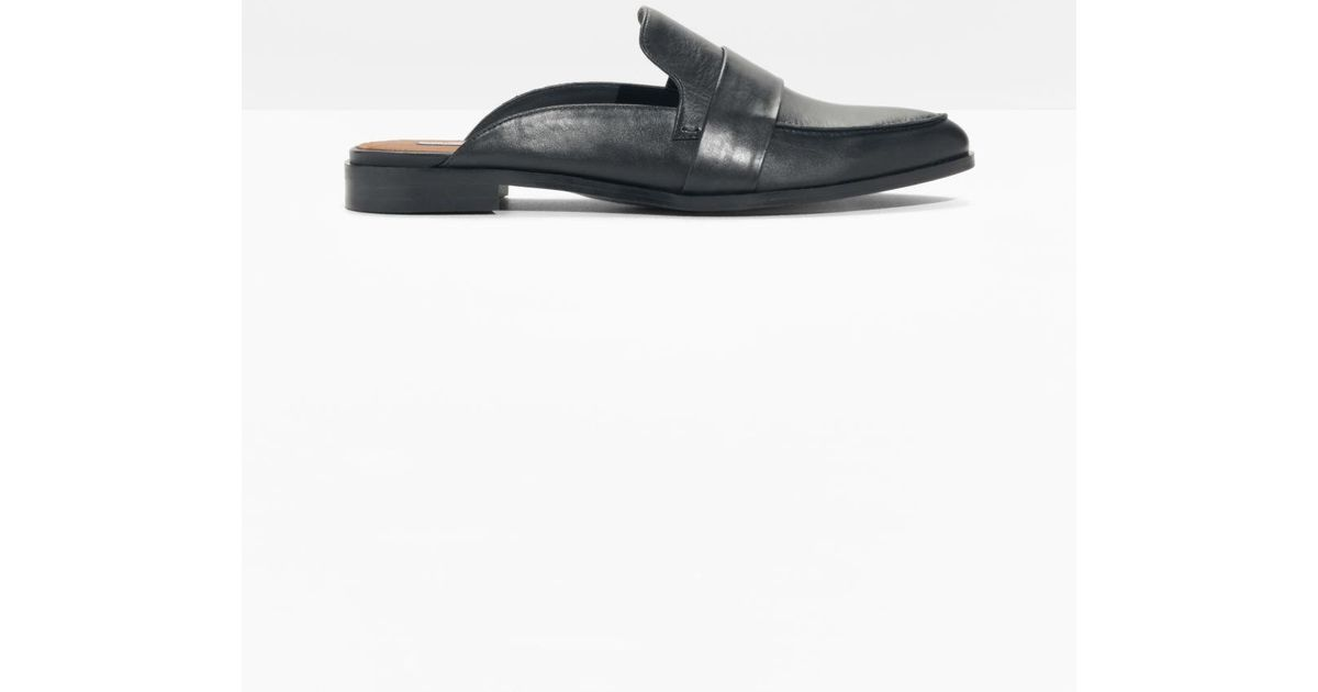5b52fd4e431   Other Stories Slip On Leather Loafers in Black - Lyst
