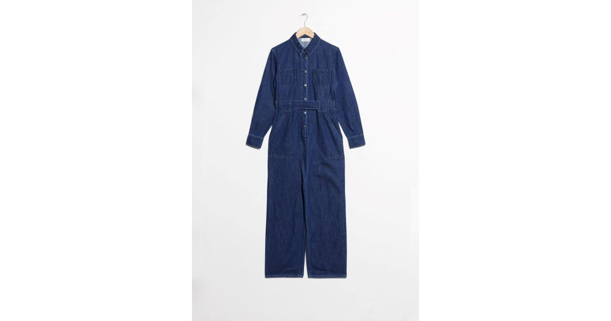 d72494ea5e4   Other Stories Denim Overall Jumpsuit in Blue - Lyst