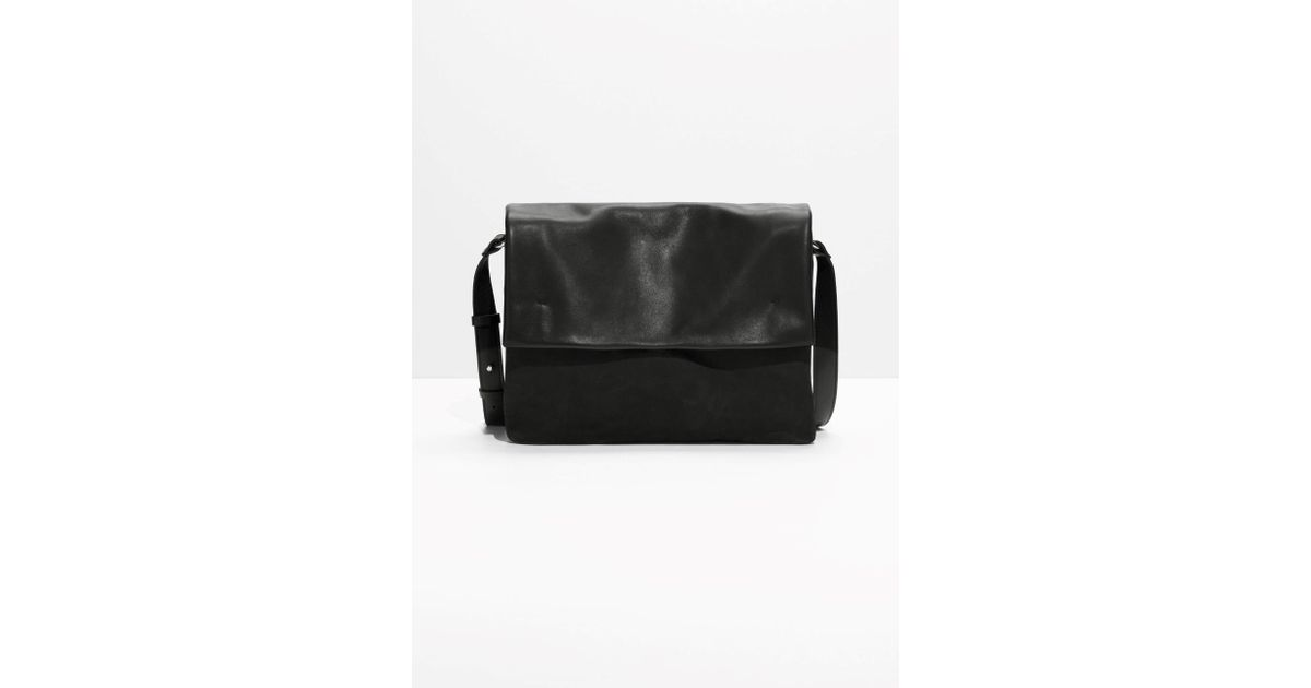14b940aacc Lyst -   Other Stories Large Leather Crossbody Bag in Black