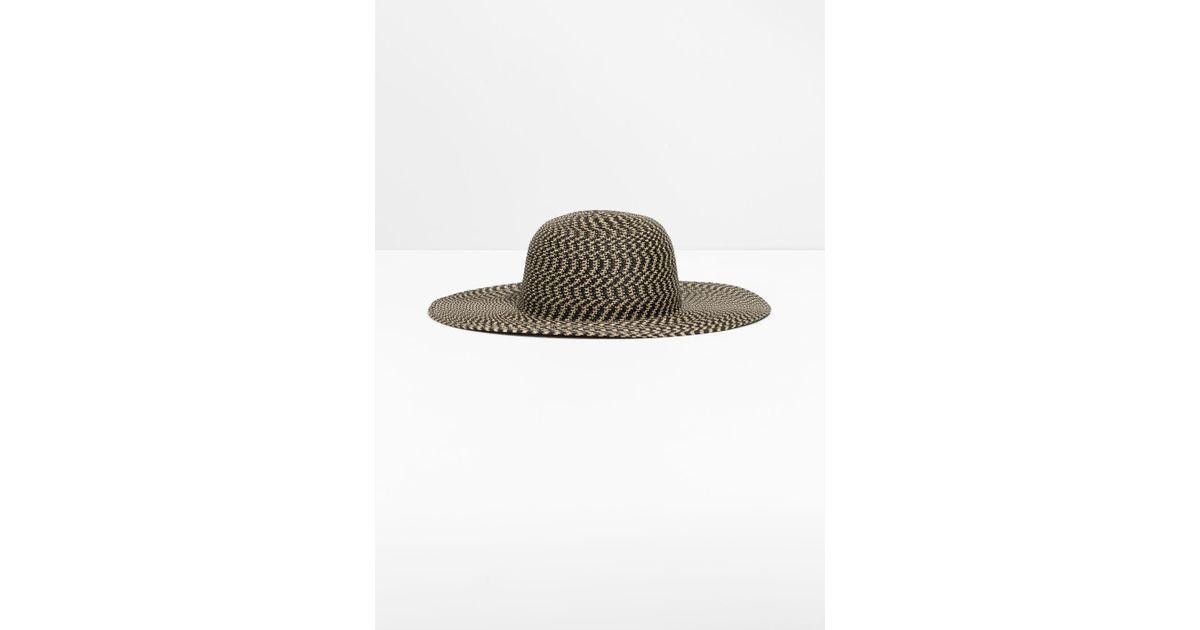 32b4c262c3312 Lyst -   Other Stories Wide Brim Straw Hat in Black