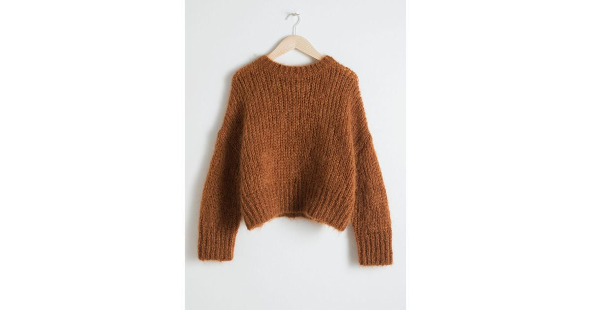 90754a9b0ec8   Other Stories Wool Blend Chunky Knit Sweater in Orange - Lyst