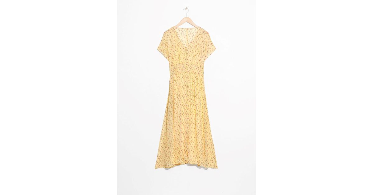 e7e1d3fb6e91   Other Stories Floral Print Midi Dress in Yellow - Lyst
