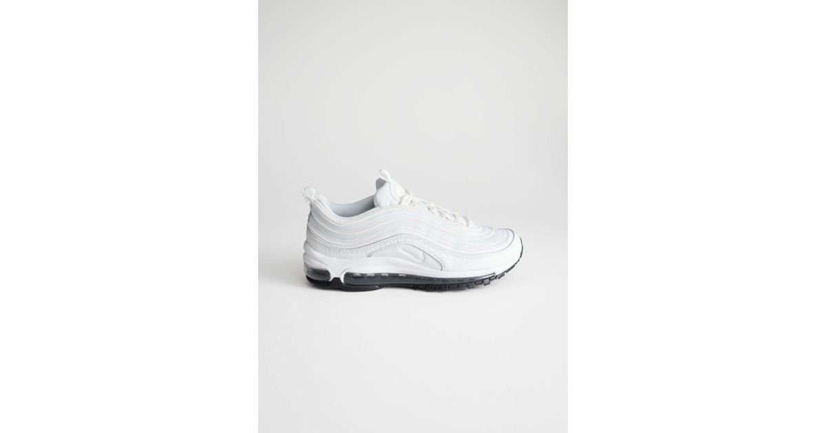 lowest price a306b 2d2e6 Lyst -   Other Stories Nike Air Max 97 Lea in White