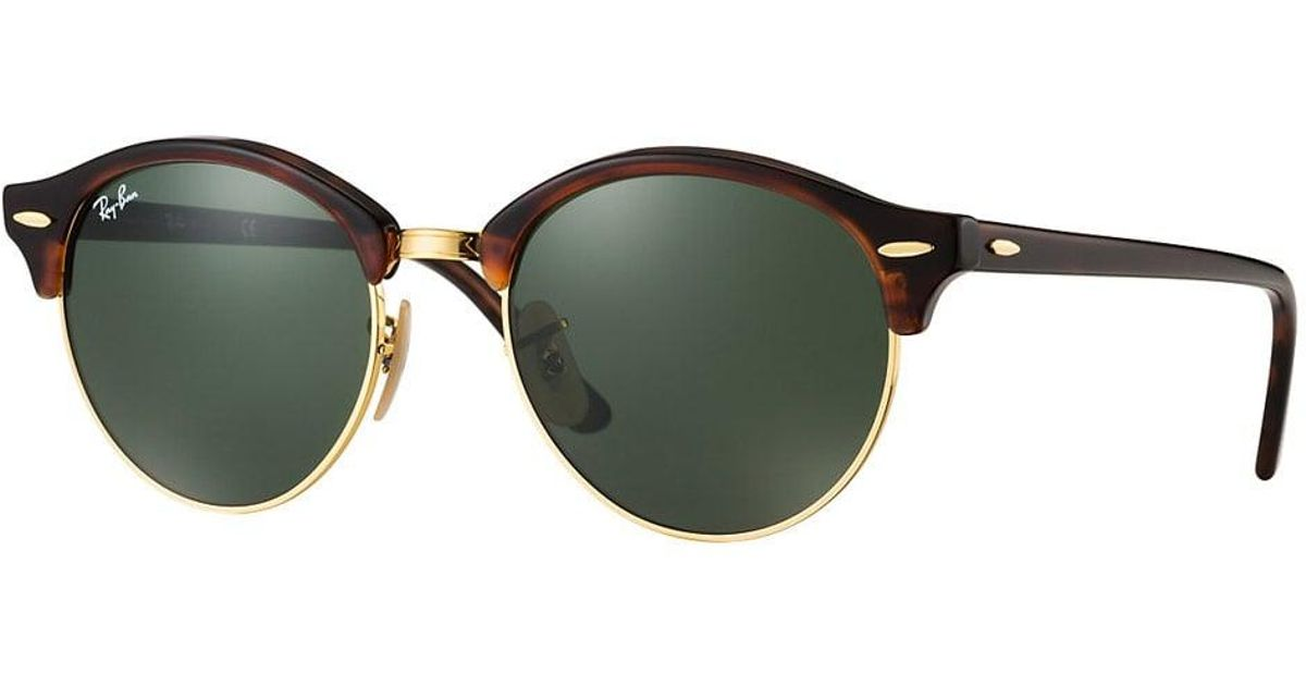 ae0c5ff683ce1 Ray-Ban Tortoise Clubround Classic Sunglasses - Green Classic G-15 Lenses  for Men - Lyst