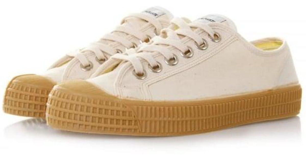 c08175bde46a Novesta Footwear Novesta Star Master Beige Canvas Shoes in Natural - Lyst