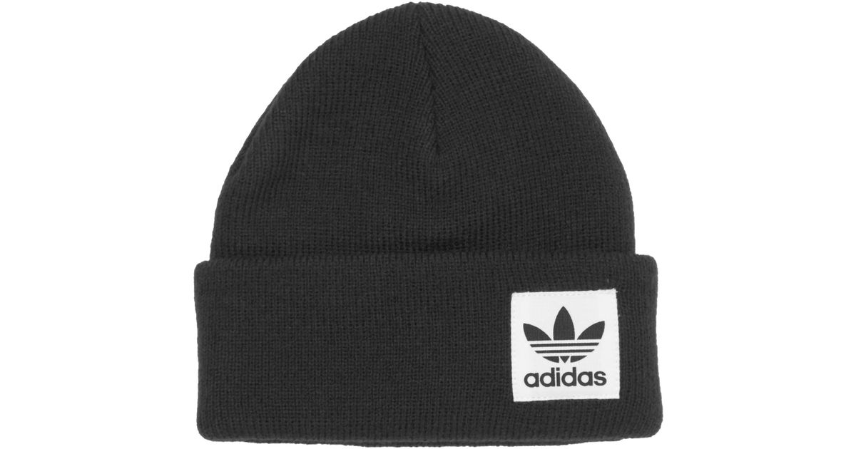 low priced 2ef4a b264e Adidas Originals Black High Beanie in Black for Men - Lyst