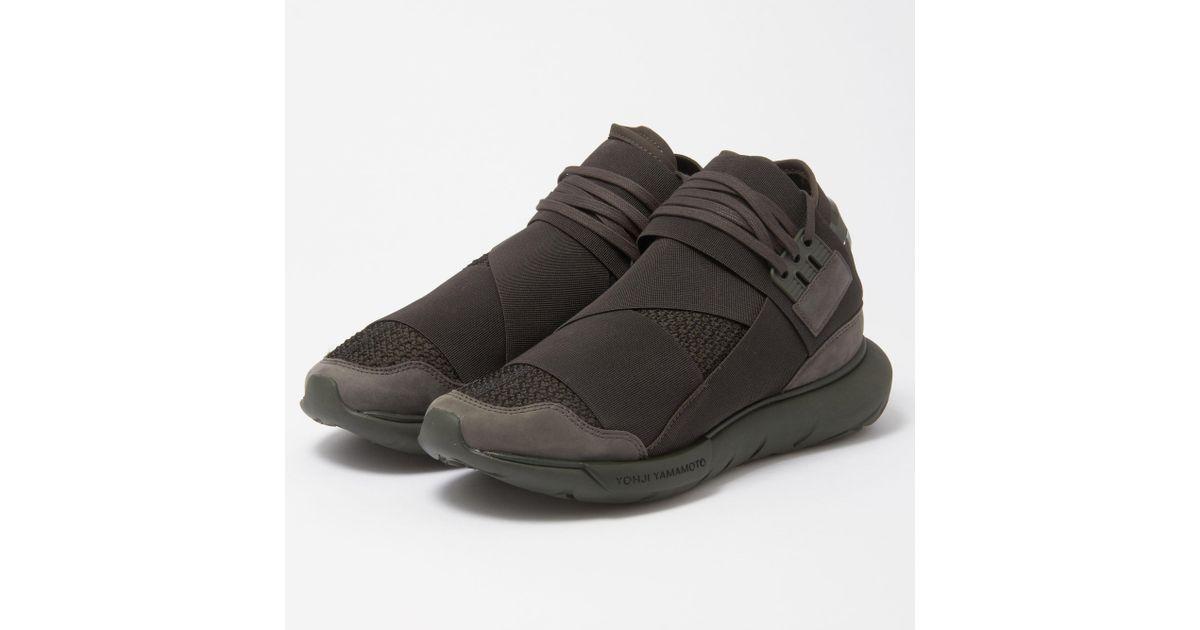 e610e09c8 Lyst - Y-3 Qasa High Black Olive Sneakers in Black for Men