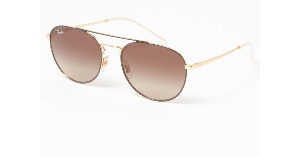 0462d1e842 Ray-Ban Gold Rb3589 Sunglasses - Brown Gradient Lenses in Metallic for Men  - Lyst