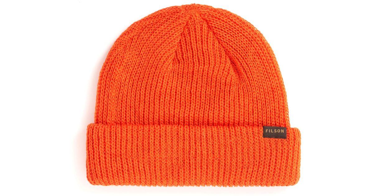 430d96a4e0d Lyst - Filson Watch Cap in Orange for Men - Save 24%