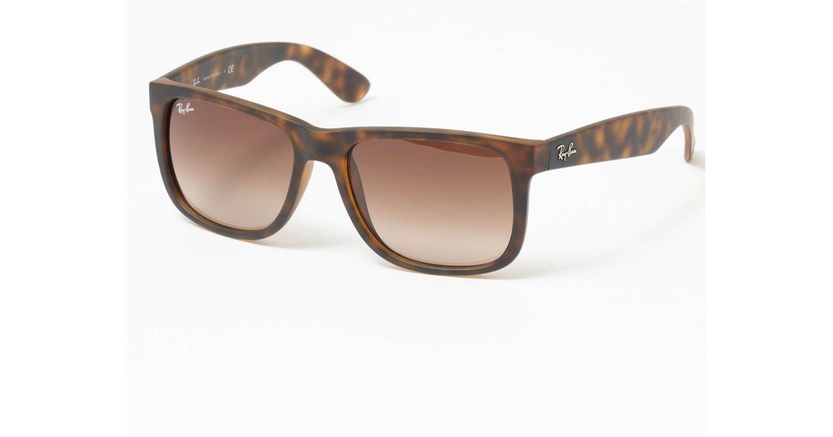 94c0bb55bd Ray-Ban Tortoise Justin Sunglasses - Brown Gradient Lenses for Men - Lyst