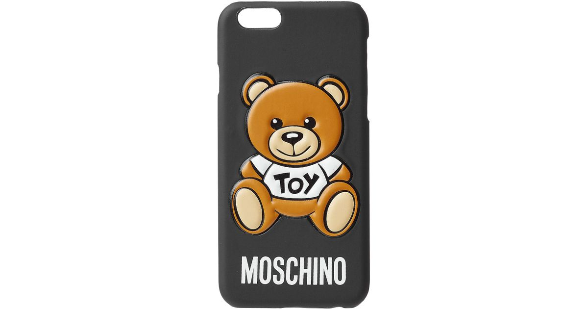 moschino iphone 6 6s cover in metallic lyst. Black Bedroom Furniture Sets. Home Design Ideas
