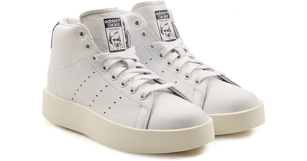 828b732247aa Lyst - adidas Originals Stan Smith Bold Platform Leather Sneakers in White