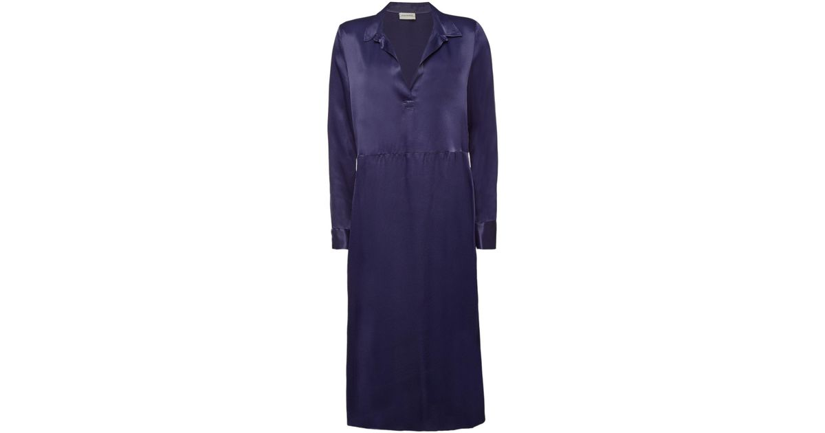 2a7467d22 By Malene Birger - Blue Bottall Satin Dress - Lyst