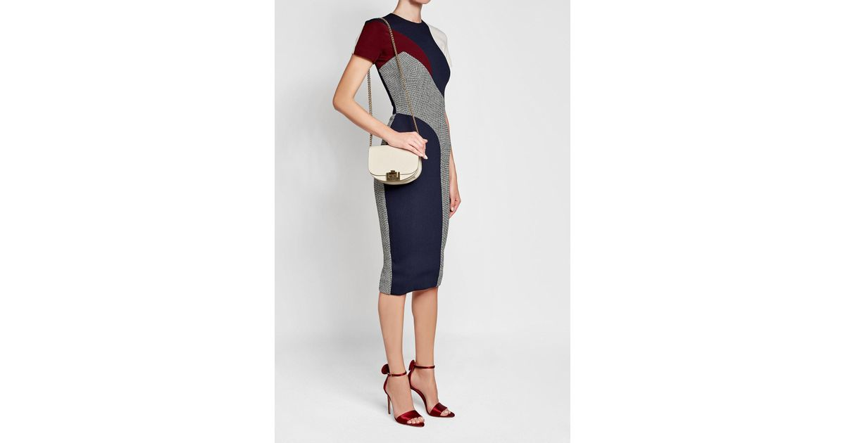 db3daaf3fa8b Victoria Beckham Half Moon Box Leather Shoulder Bag in Natural - Lyst