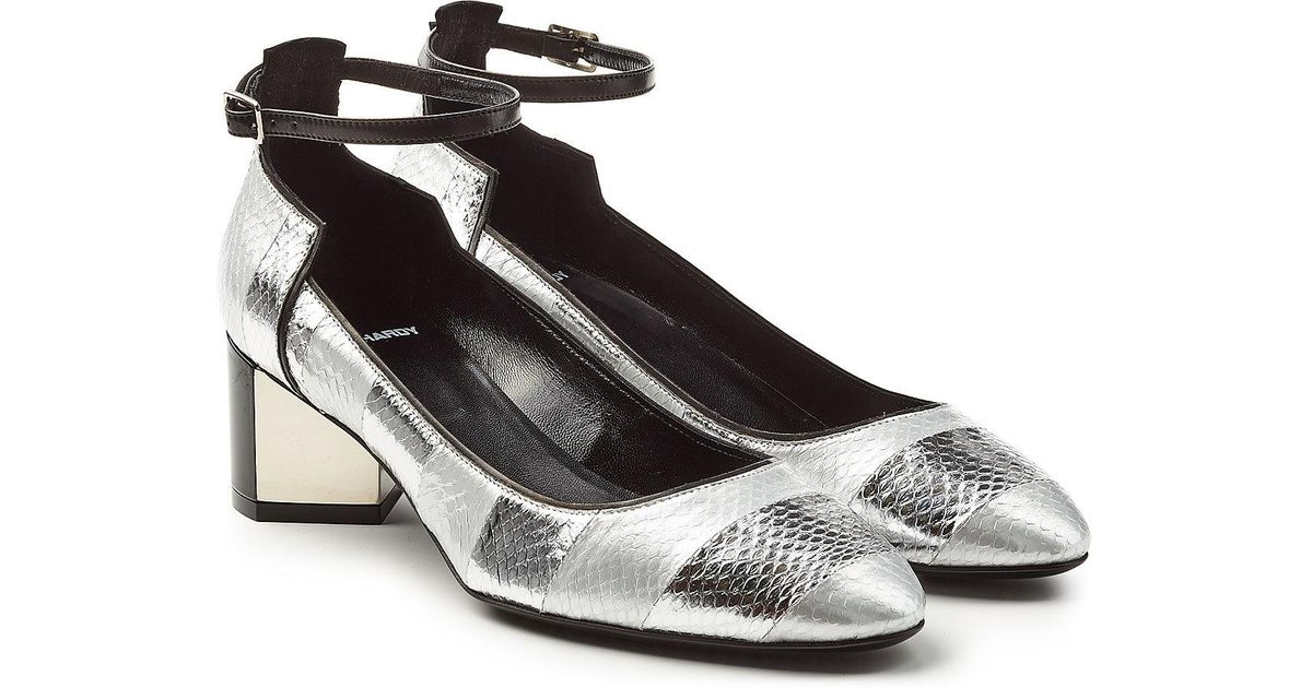 f3c202569a3 Pierre Hardy - Multicolor Leather And Snakeskin Mary-janes - Lyst