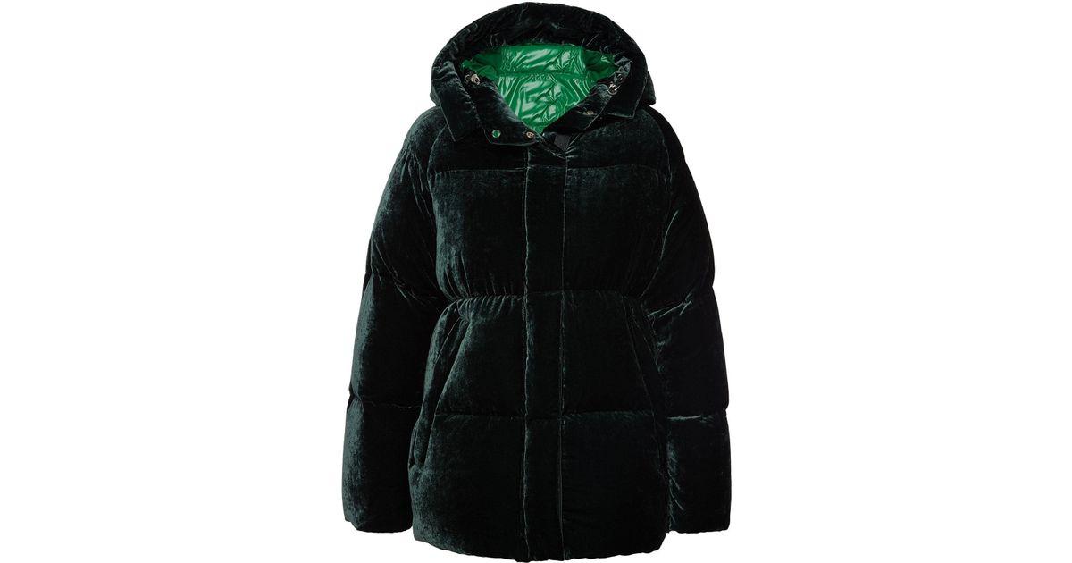 3c472bd5b187 Lyst - Moncler Butor Velvet Down Jacket With Silk in Black