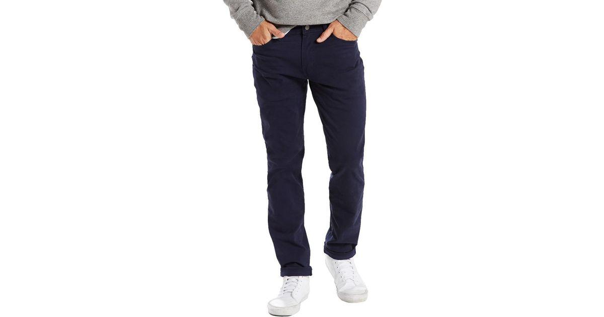 98da628d211 Levi's Levi's 511 Slim Fit Soft Twill Jeans Nightwatch Navy Bi Stretch in  Blue for Men - Lyst