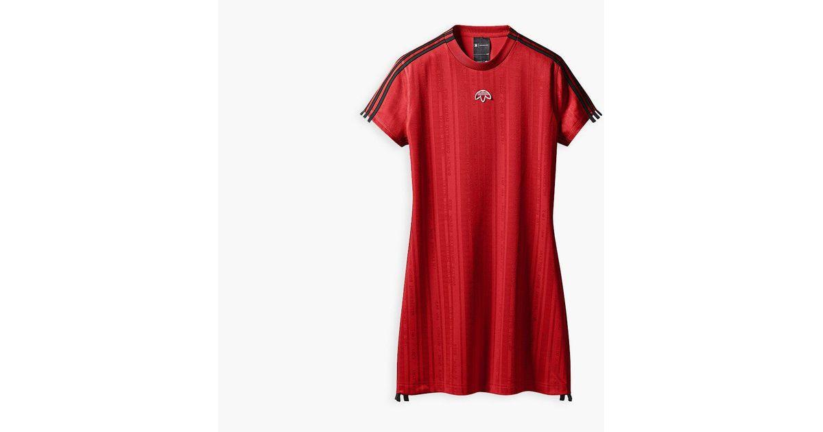 ebf1decc0a3 Lyst - adidas Originals Adidas Originals By Alexander Wang Dress in Red