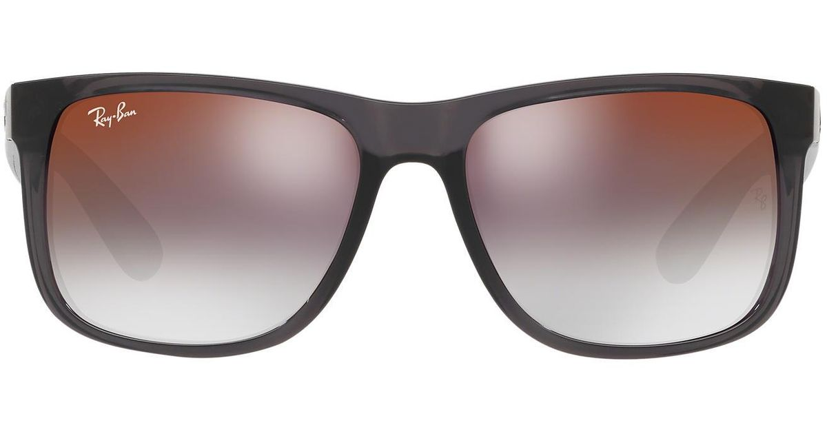 999a02896a ... australia lyst ray ban rb4165 54 justin in gray for men save 10 86df2  e6953