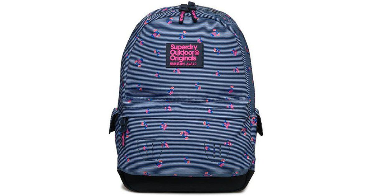 0b92bacca4 Superdry Print Edition Montana Rucksack in Blue - Lyst
