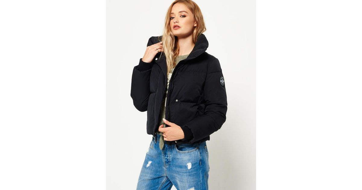 Superdry Cocoon Jacket in Black - Lyst b16734f458f