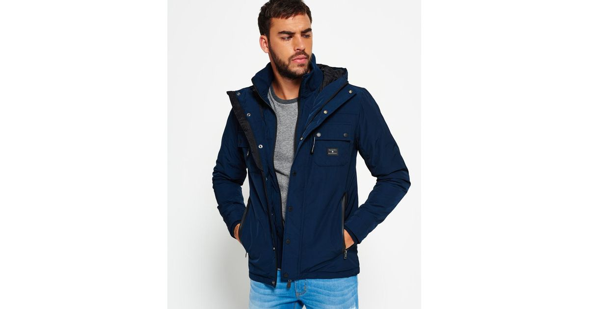 buy popular lower price with search for genuine Superdry Blue Vessel Jacket for men