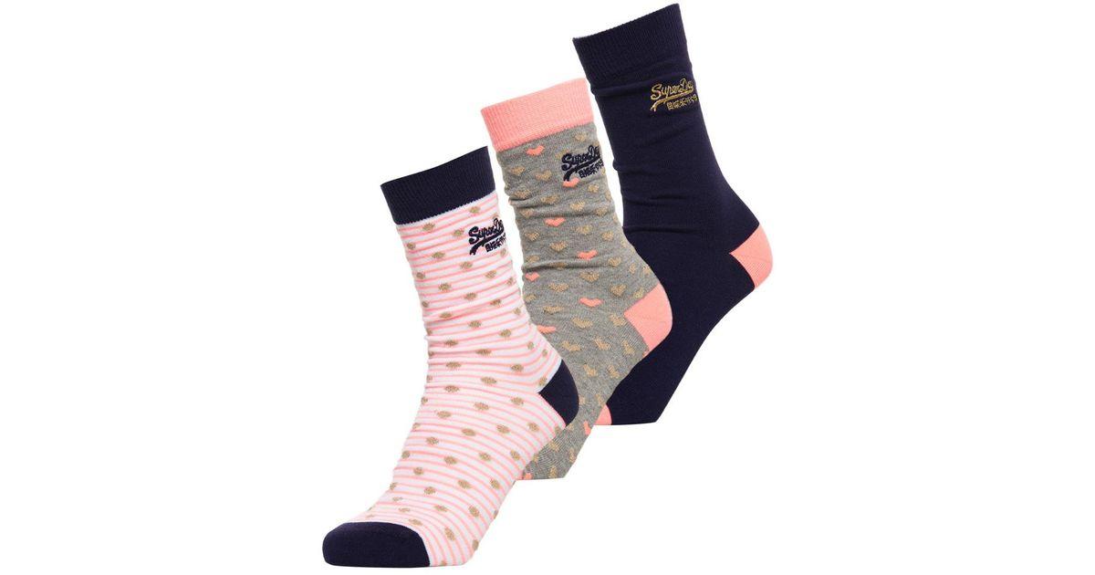 Gold Heart Socks Triple Pack Superdry Buy Cheap Discounts Clearance Marketable hwL6QZJ