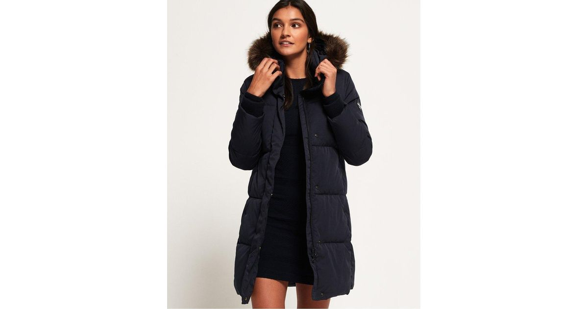 ebe89631078e Superdry Cocoon Parka Jacket in Blue - Lyst