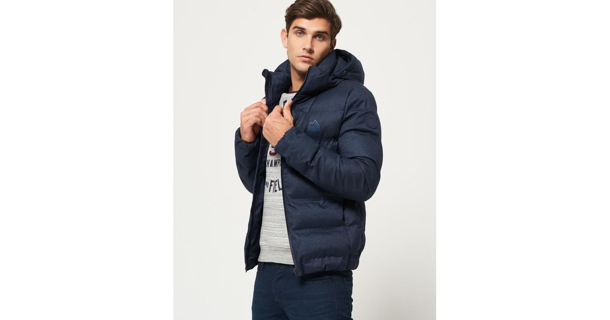 Lyst - Superdry Echo Quilt Puffer Jacket in Blue for Men 6a329638ea32