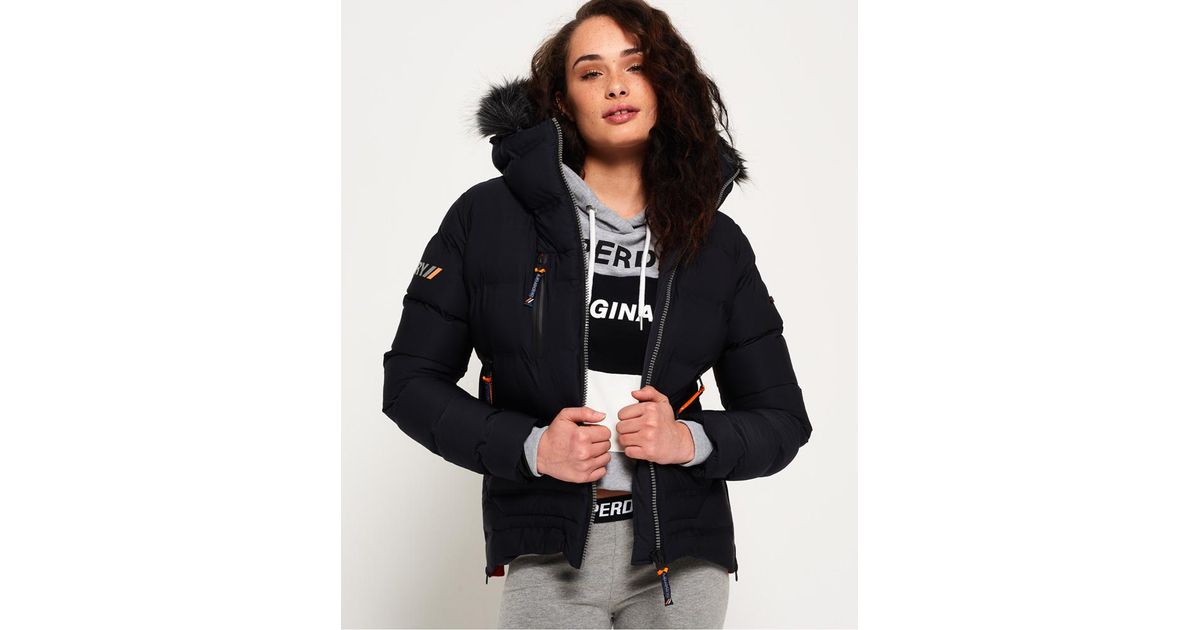 e3492c7f8 Superdry - Blue Sdx Extreme Puffer Jacket - Lyst