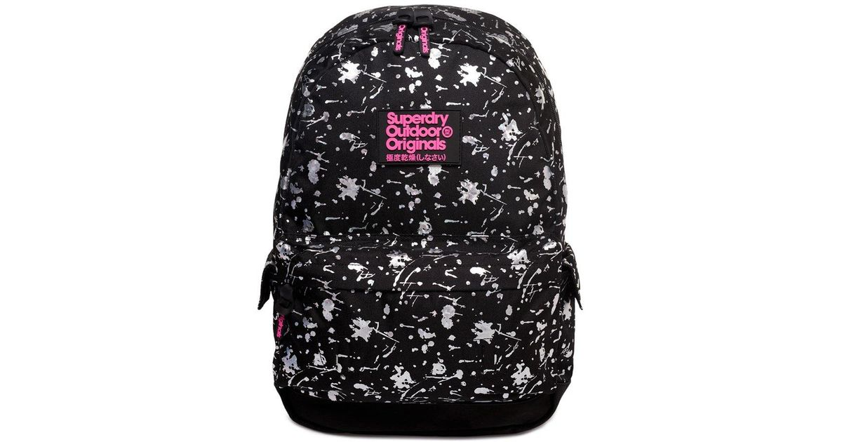 eca57cd7a34 Superdry Print Edition Montana Rucksack in Black - Lyst