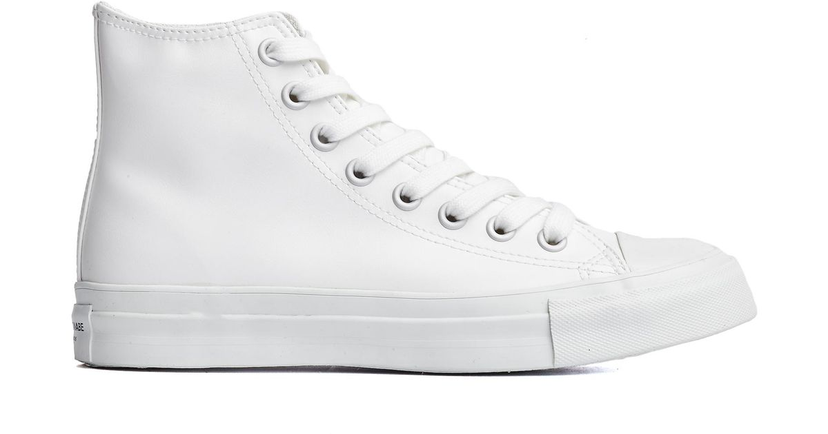 Free Shipping Clearance Pick A Best For Sale White Leather High-Top Sneakers Junya Watanabe 100% Guaranteed Cheap Online QEjLUlXRyo